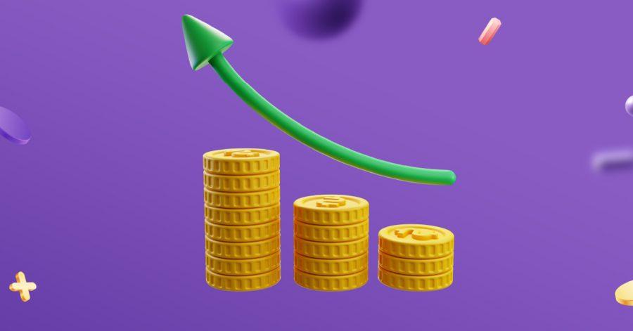 Gráfico mostrando a linha de crescimento de como calcular ROI (Retorno sobre investimento)